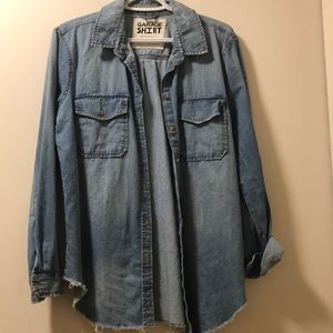 Garage boyfriend fit denim shirt